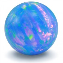 Cornflower Blue Opal Gem Marble