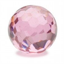 Pink Faceted CZ