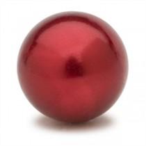 Scarlet Faux Pearl Gem Marble