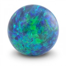 Sea Blue Opal Gem Marble